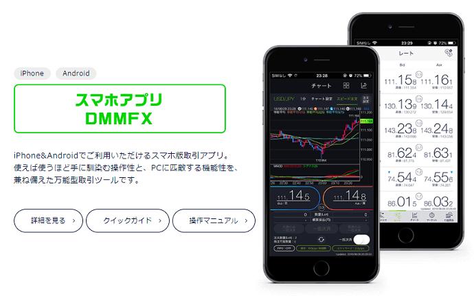 DMMFXのアプリ