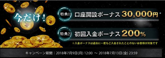 is6com口座開設3万円キャンペーン